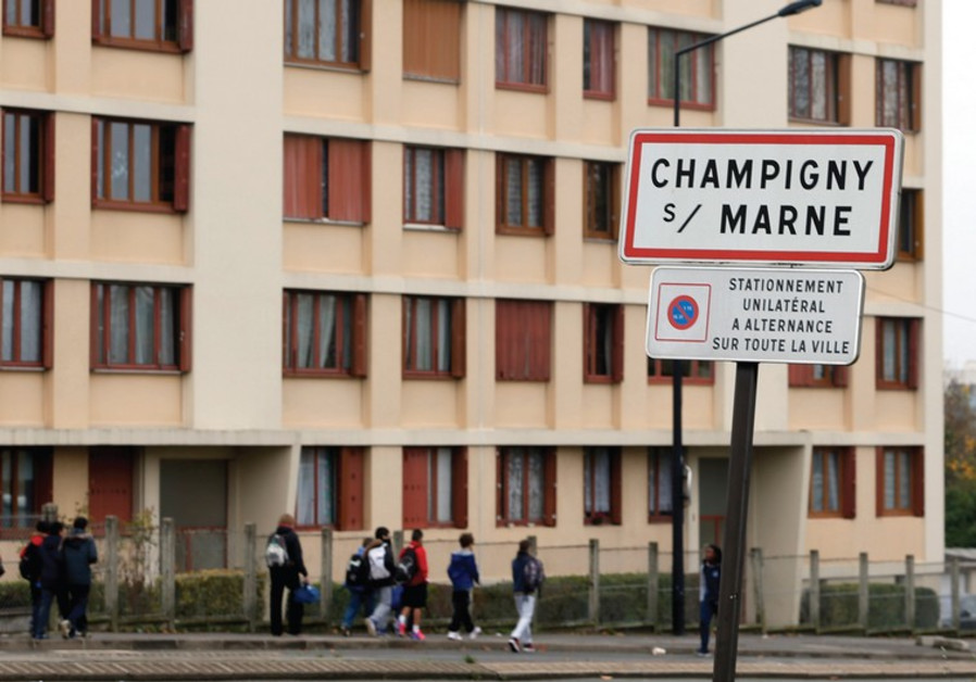 A ROAD sign is seen at the entry of Champigny-sur-Marne, East of Paris, from where a convert and Jih