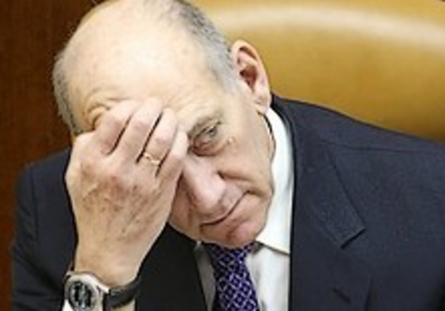 Olmert slams indictment of Rigby-Raz