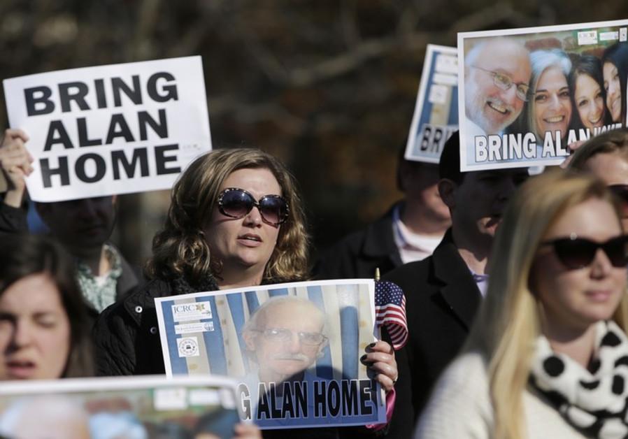 A rally for U.S. detainee Alan Gross