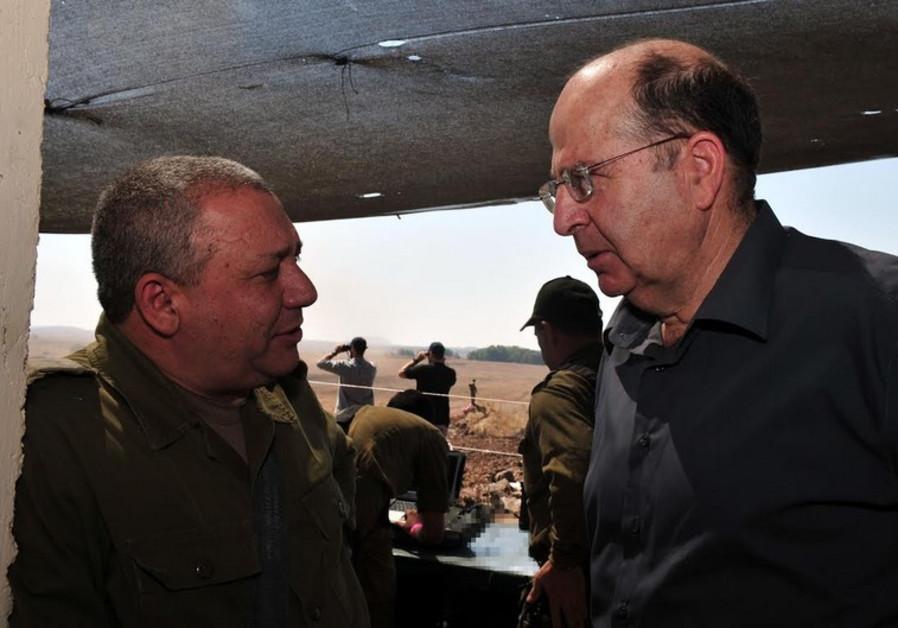 Maj.-Gen. Gadi Eizenkot and Defense Minister Moshe Ya'alon.