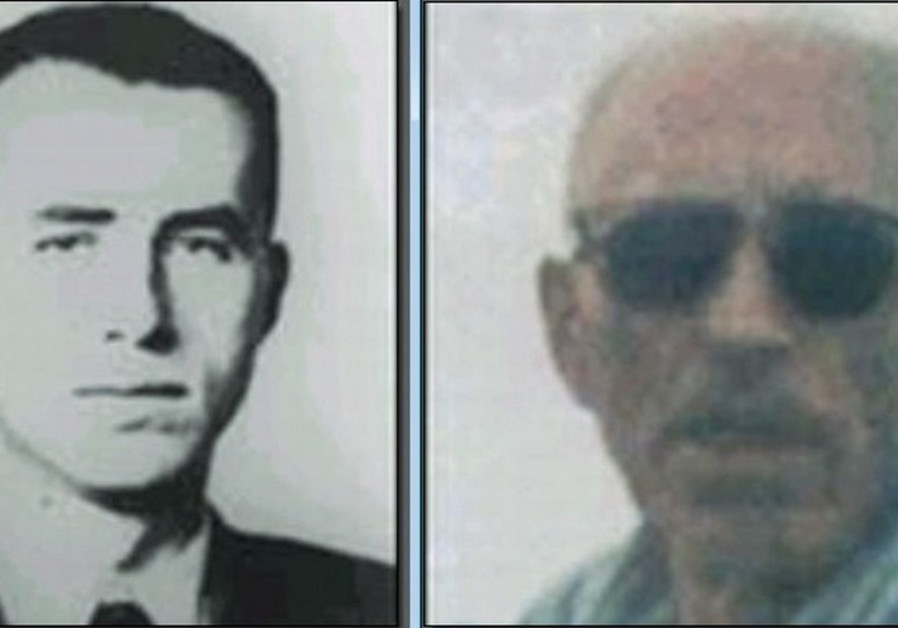Fugitive Nazi leader Alois Brunner during the Holocaust (left) and before his recent death.