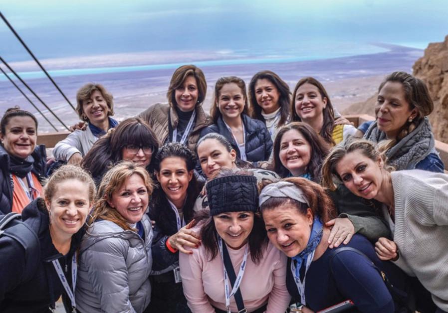 JEWISH WOMEN'S Renaissance Project participants at Masada