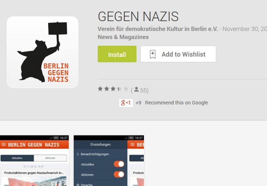 """""""Against Nazis"""" app"""