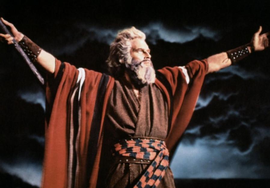 Charlton Heston as Moses in 'The Ten Commandments'