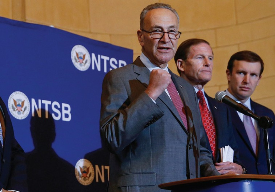 US SENATOR Charles Schumer speaks during a news conference last year.