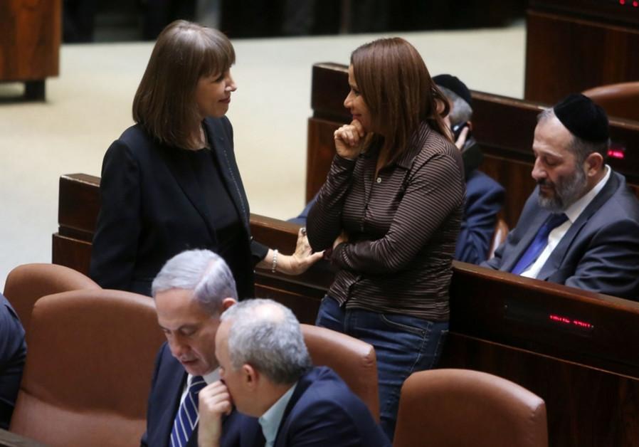 Les députés Shelly Yachimovich et Limor Livnat