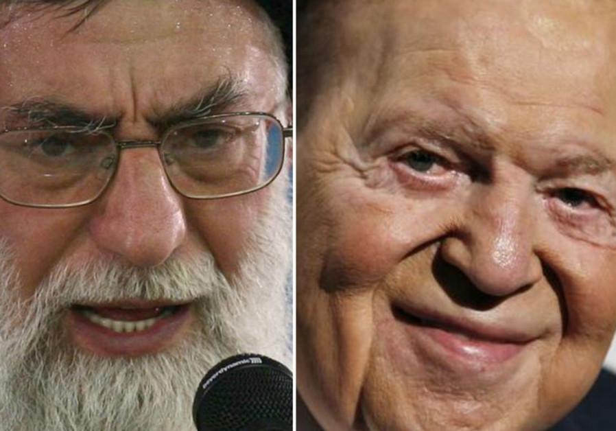 Ali Khamenei and Sheldon Adelson