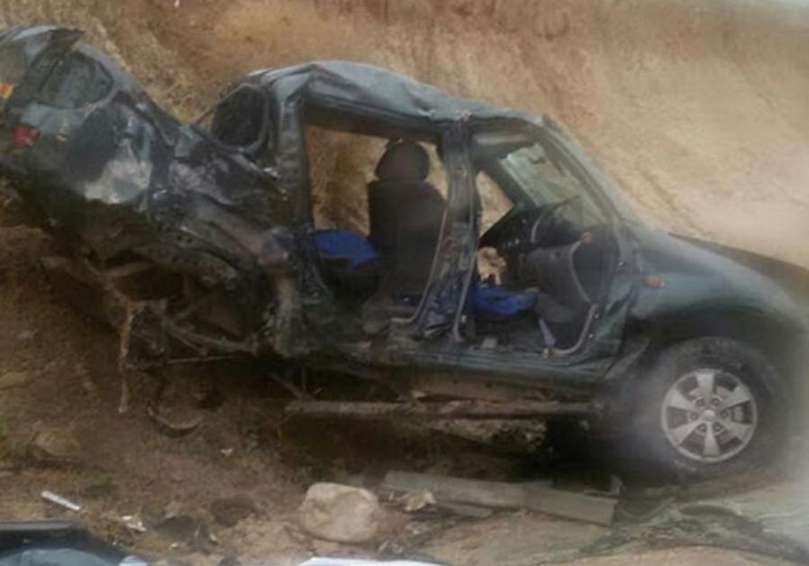 Car crash on Highway 90 in West Bank