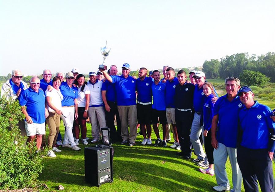Golfers in Caesarea