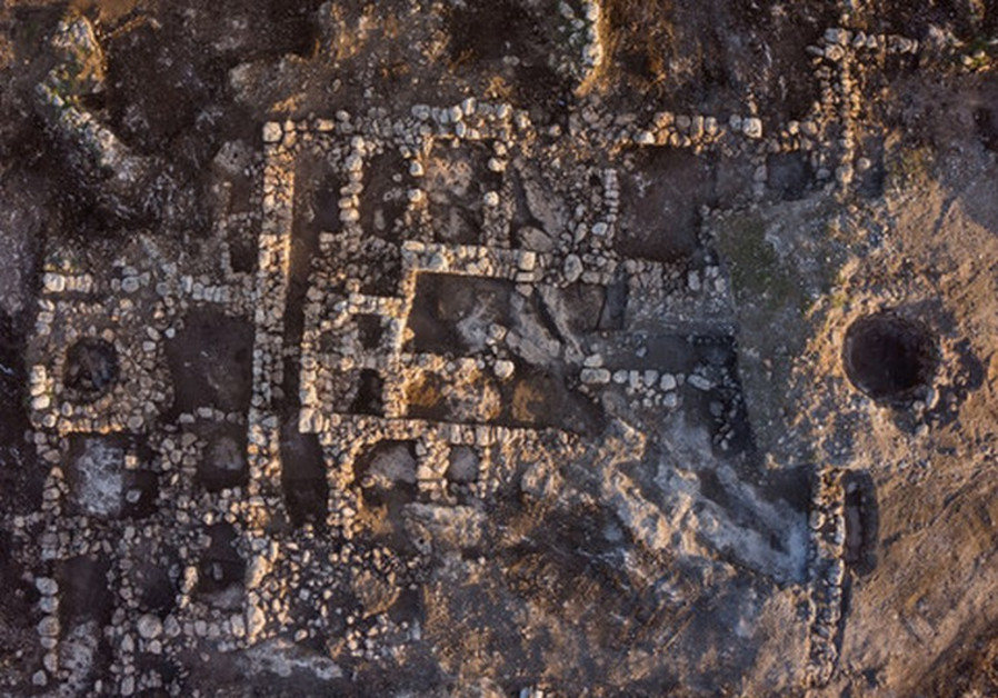 AN AERIEL view of the farmhouse uncovered by the IAA.