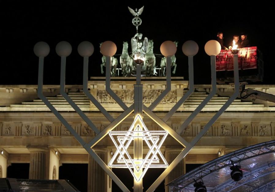Hanukkah observance in Berlin