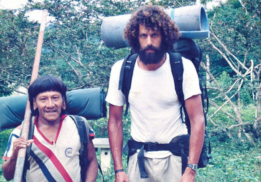 DR. DAN BOLOTIN as a young researcher in South America with a local shaman.