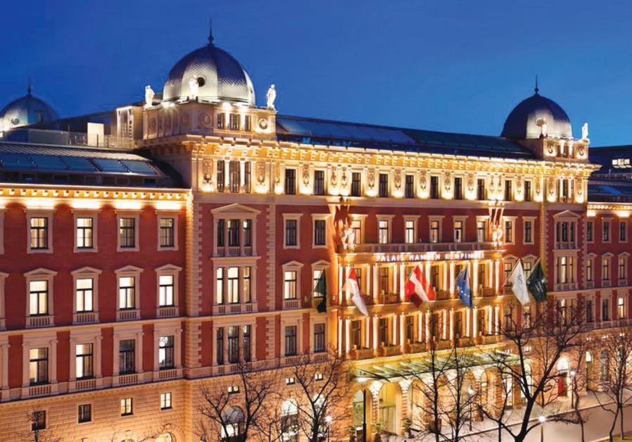 THE FACADE of the Hotel Palais Hansen Kempinski in Vienna.