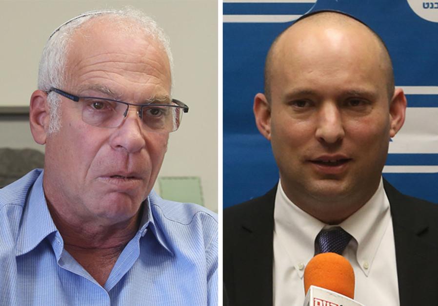 Naftali Bennett and Uri Ariel