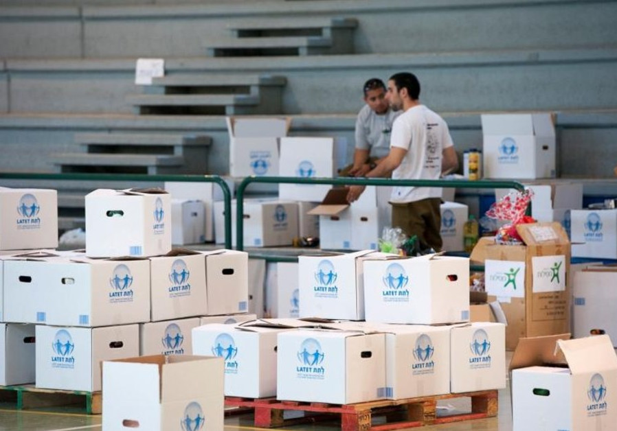 Boxes of food for the poor