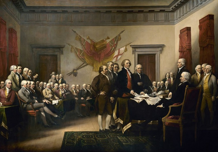 The Committee of Five presents the Declaration of Independence