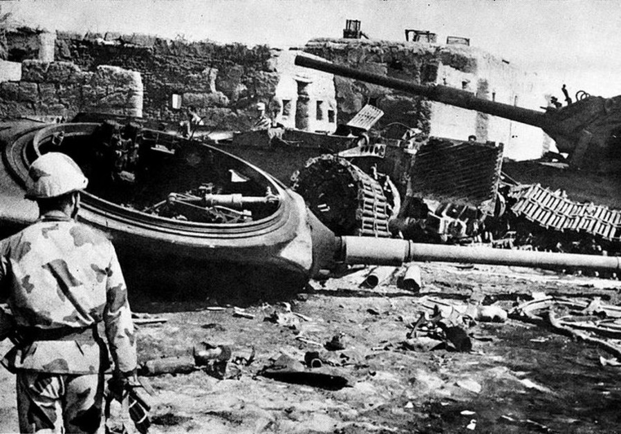 Destroyed Israeli armor near Ismailia