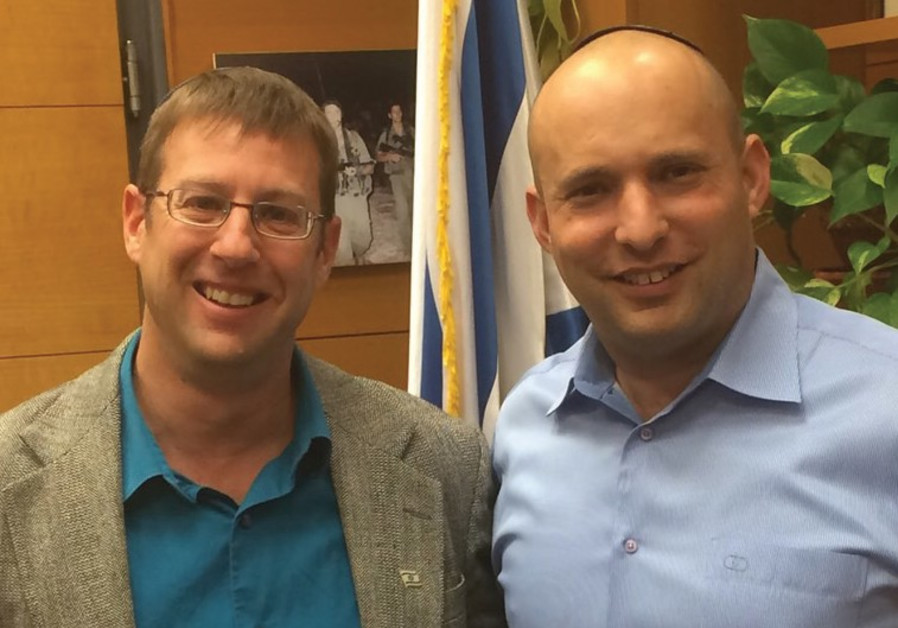 URI BANK (left) meets with Bayit Yehudi chairman Naftali Bennett