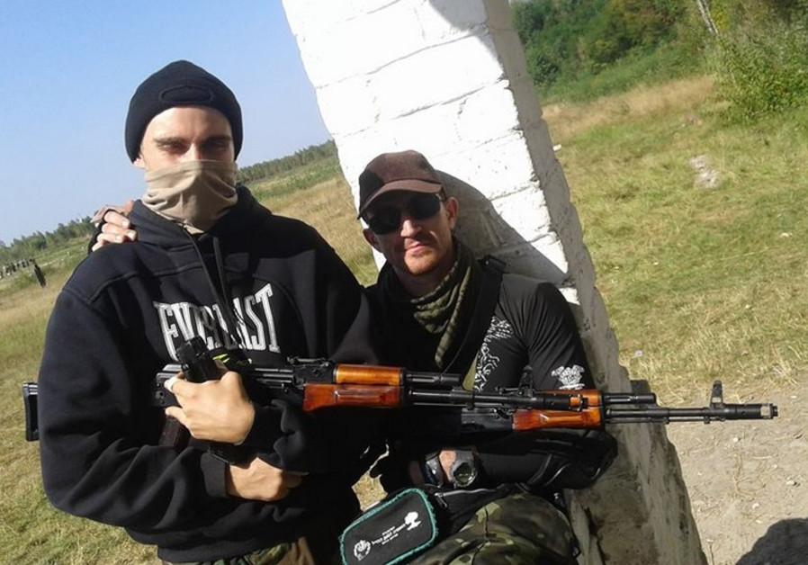 Tzvi Arieli (R) hopes to establish a quick response Jewish defense force in Mariupol, Ukraine.