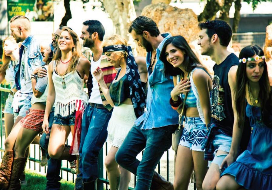 The Israeli cast of 'Hair.'