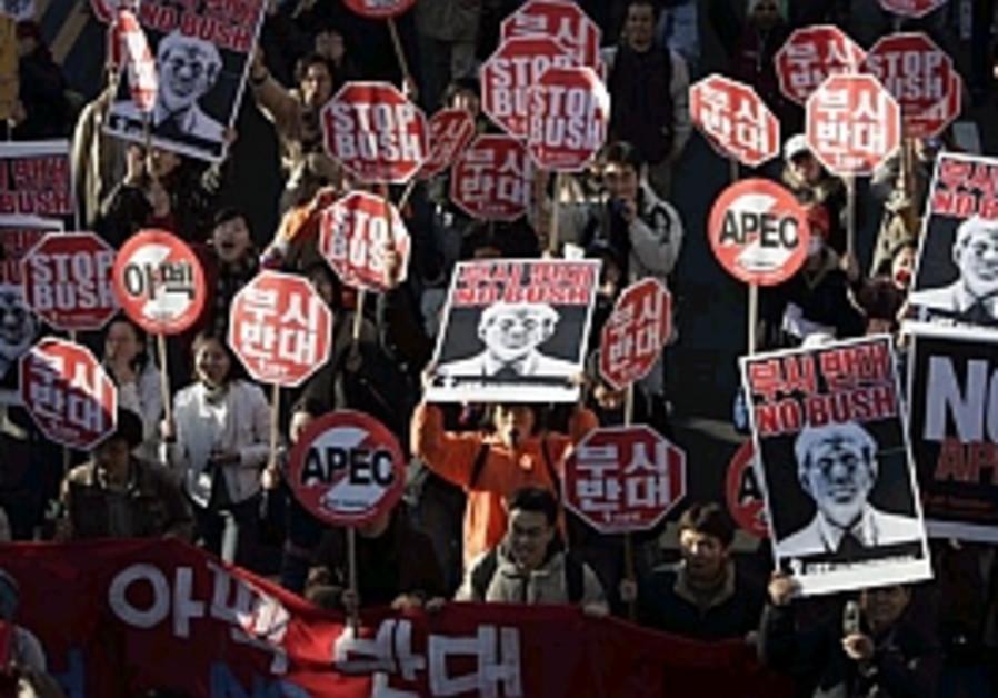apec conference protestors south korea 298 88 ap
