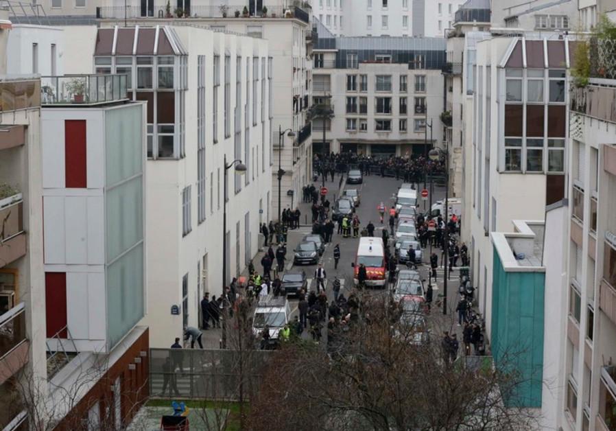 Paris street where gunmen killed 12