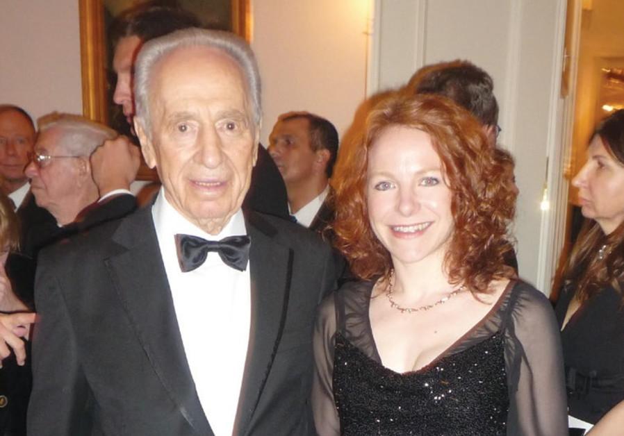 Avitall Gerstetter and former president Shimon Peres