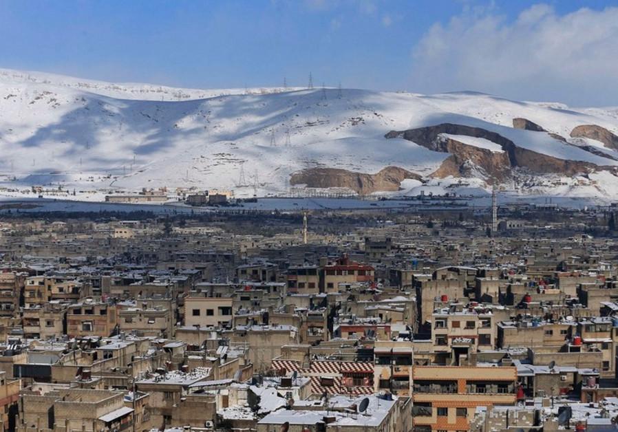 snowy syria