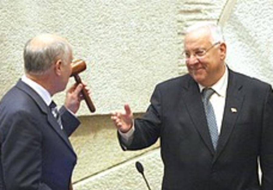 Rivlin aims to fix coalition's parliamentary disadvantage