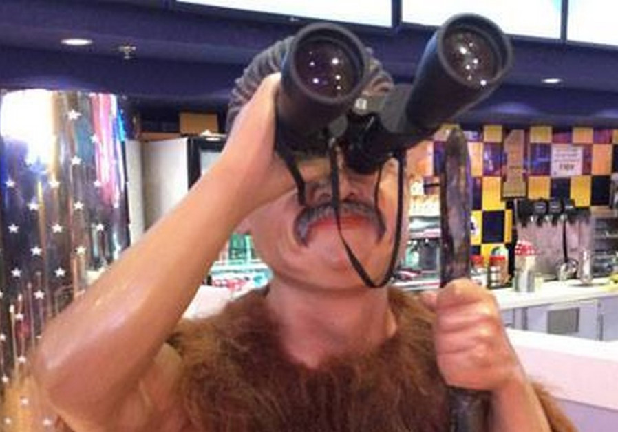 Caveman 'Peretz figure' at Jerusalem cinema