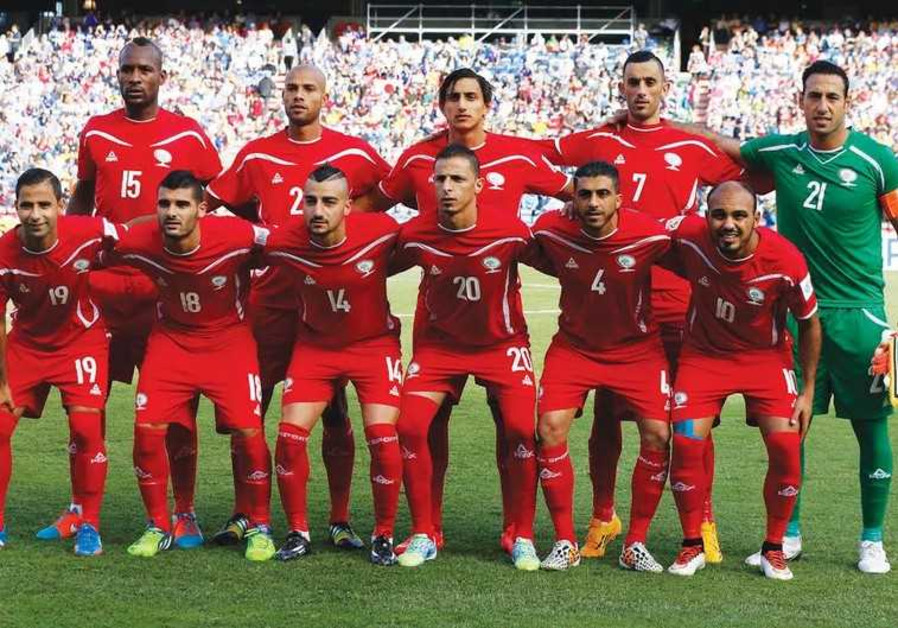 The Palestinian national soccer team
