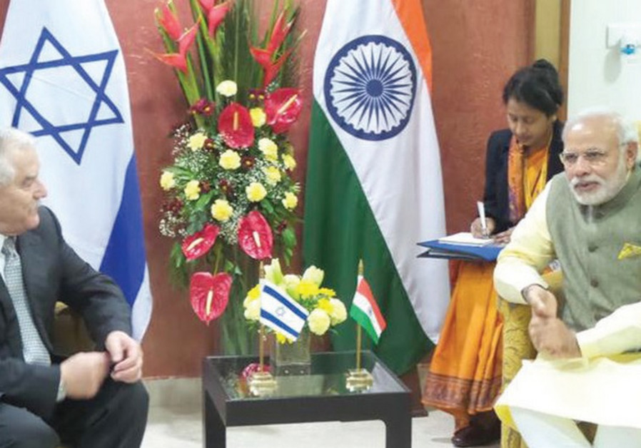 AGRICULTURE MINISTER Yair Shamir meets with India's Prime Minister Narendra Modi (top).
