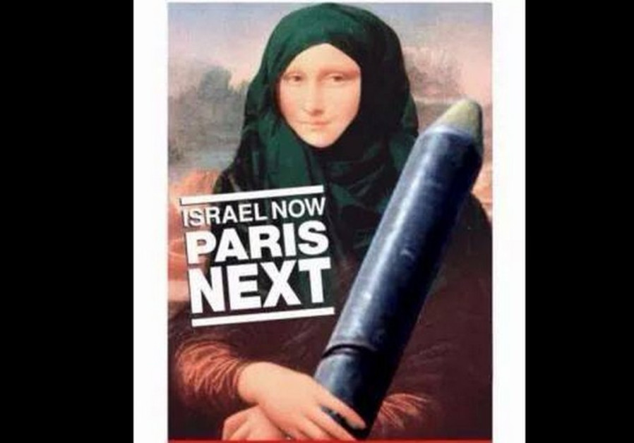Israeli embassy in Ireland posted a picture of Mona Lisa in Islamic headdress holding a rocket