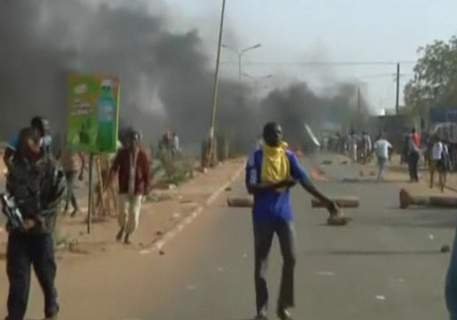 Riots in Niamey, Niger, January 17, 2015