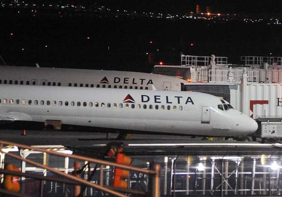 Delta Airlines airplanes at JFK airport, NY.