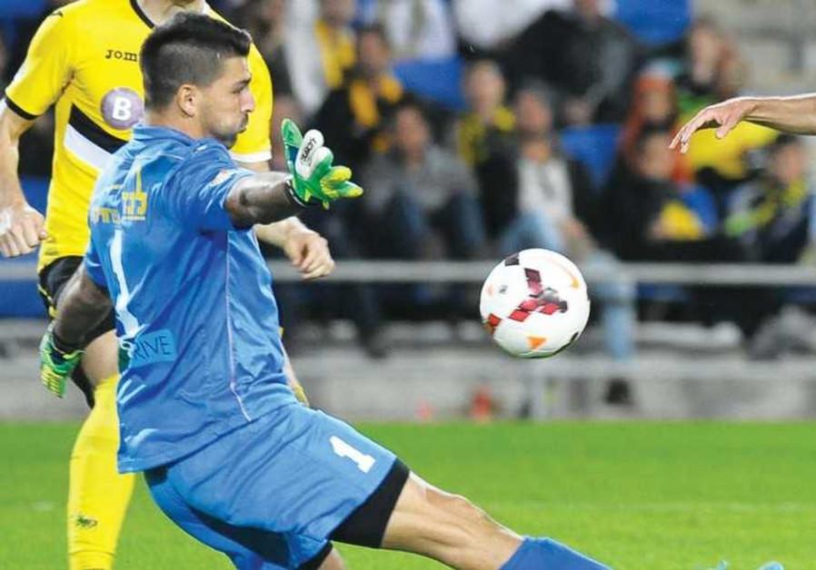 Maccabi Netanya goalkeeper Ariel Harush.