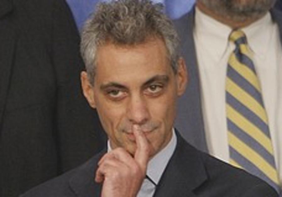 Emanuel: Thwarting Iran easier with Israeli-Palestinian talks