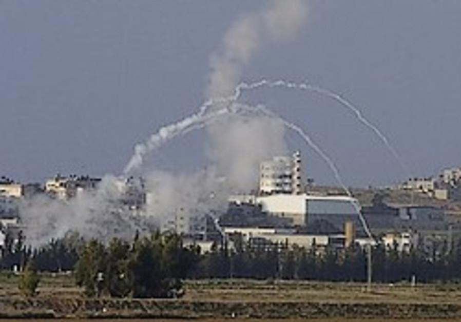 Mortar shells fired from the Gaza Strip