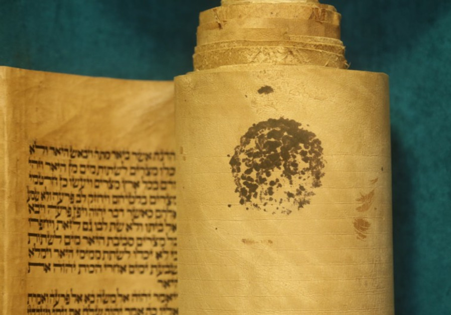 Antique Iraqi Torah scroll
