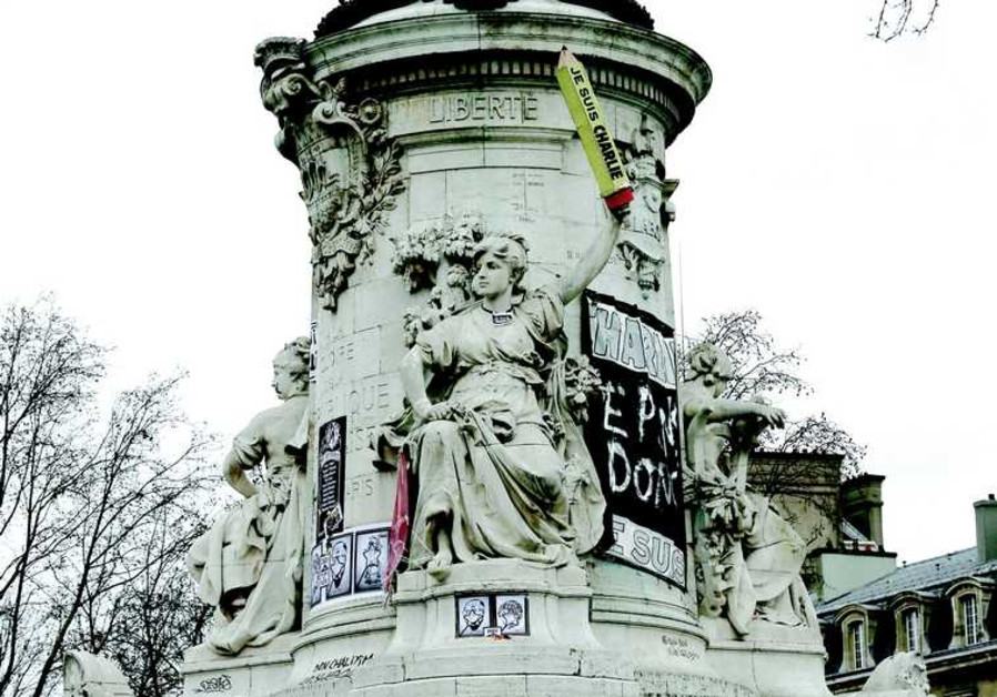 La place de la République (Paris)  le 11 janvier dernier