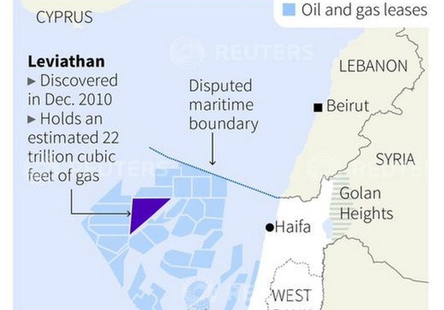 Map of Leviathan gas field