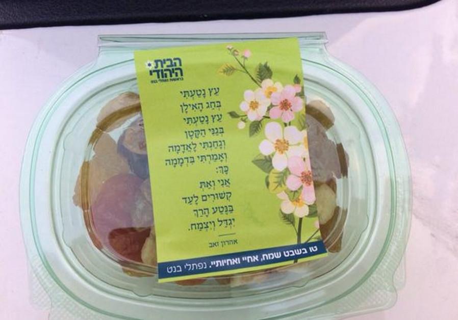Bayit Yehudi fruit basket for Tu B'Shvat