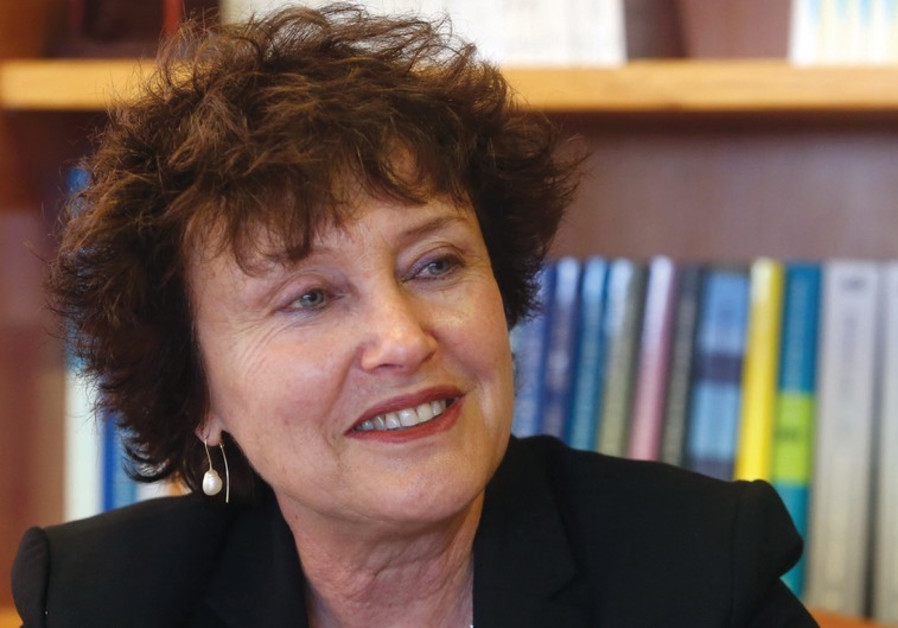 Karnit Flug at her office on February 3, 2015