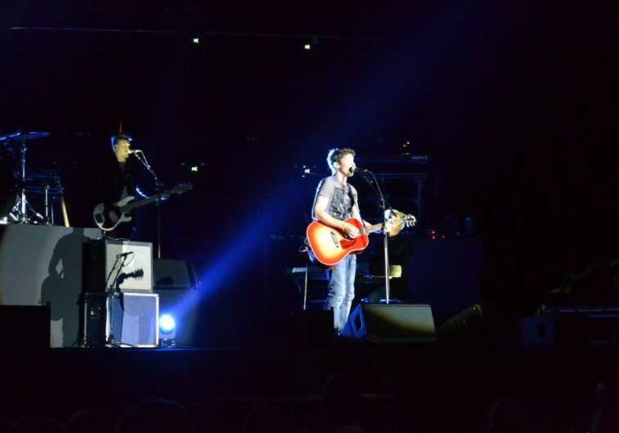 James Blunt performs live in Tel Aviv