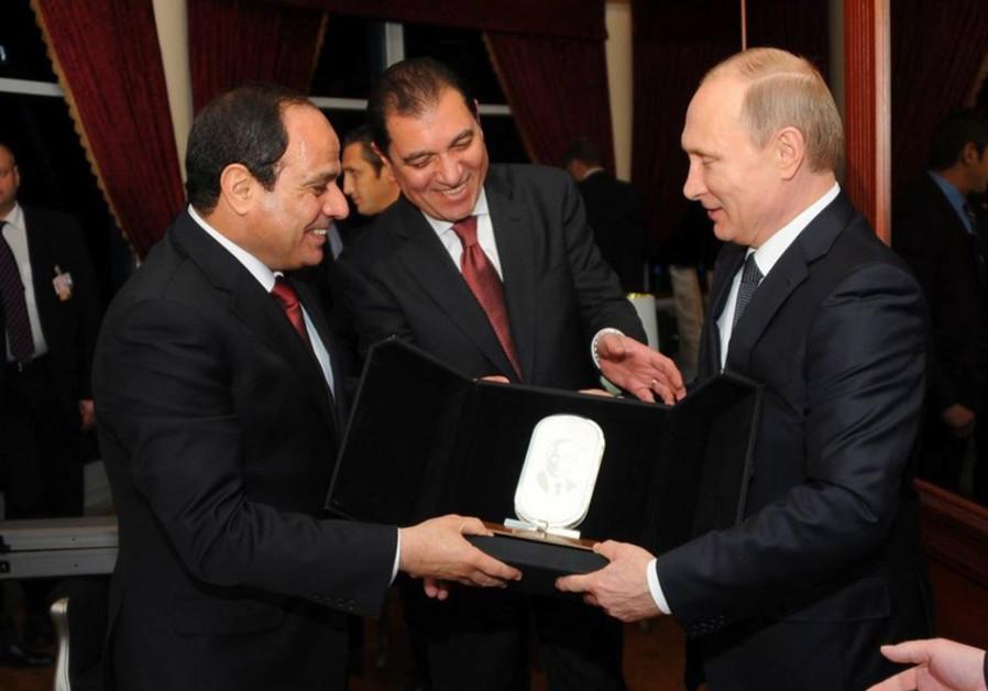 President Sisi and President Putin in Cairo, February 9, 2015