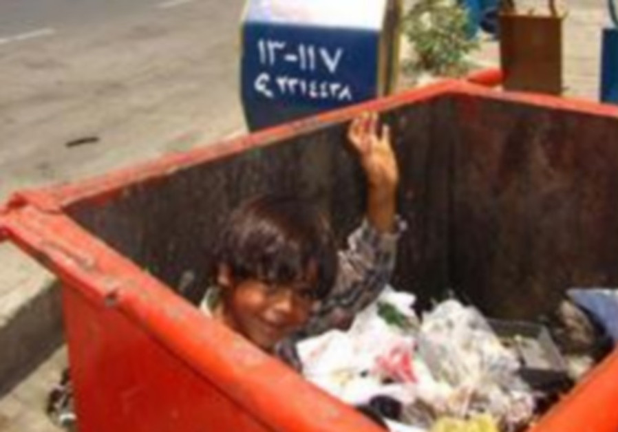 Child in trash