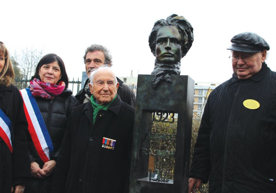 Newly inaugurated statue of Marcel Rajman.