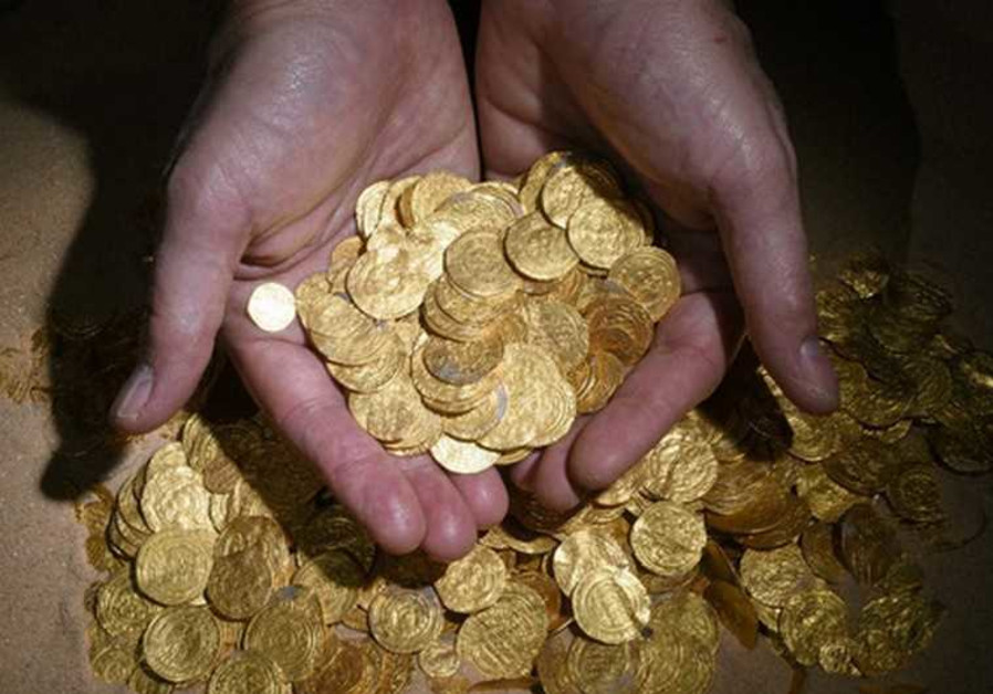 Gold coins found at ancient port in Caesarea