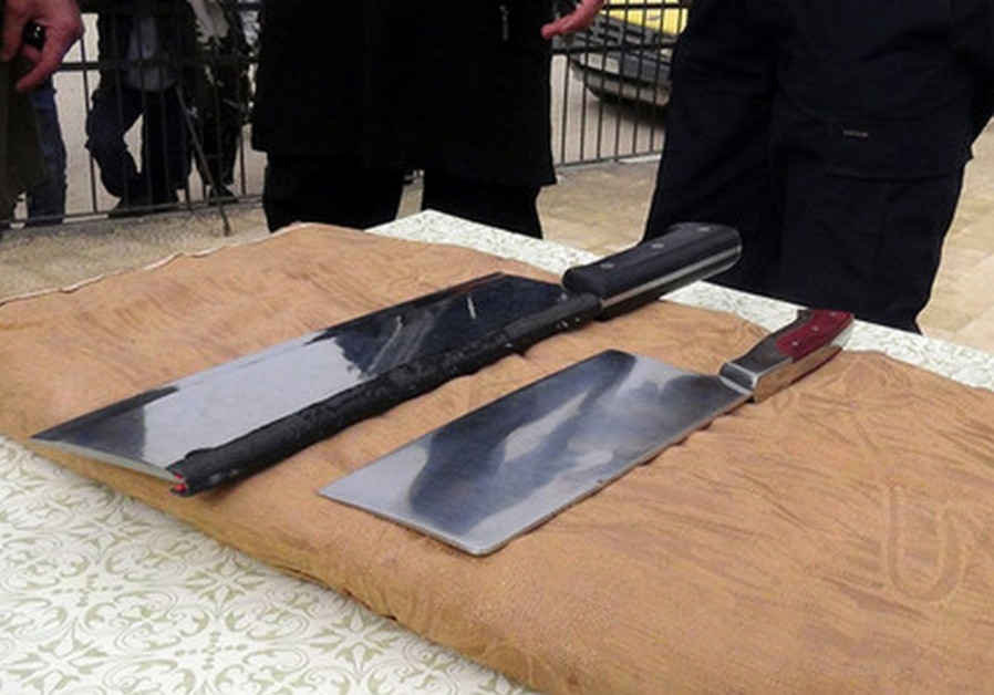 Meat cleavers used by ISIS to amputate hands of convicted thieves