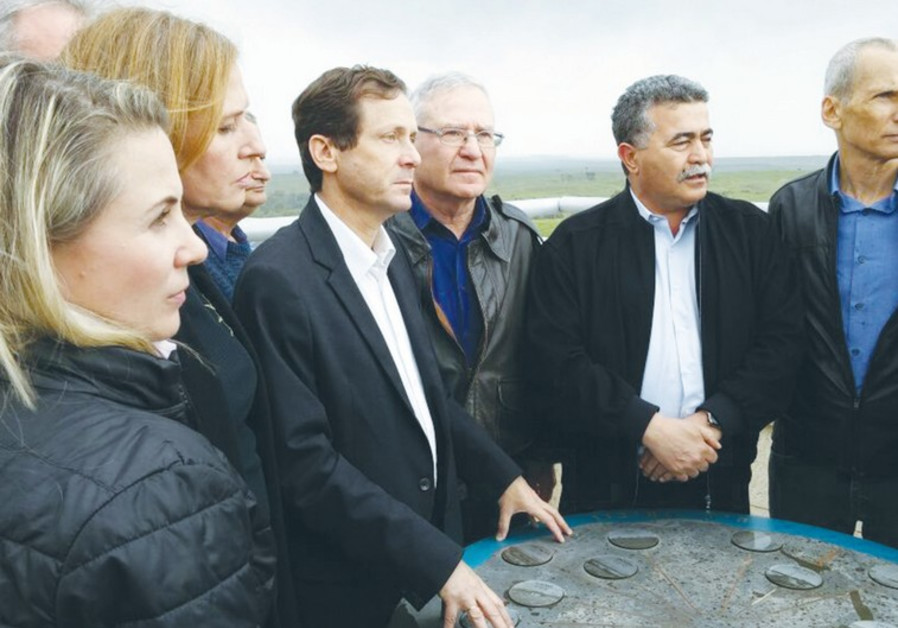 ZIONIST UNION members visit the Black Arrow monument in the Gaza periphery yesterday.